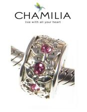 Nuevo Y En Caja chamilia 925 de plata y Swarovski Mariposa Rosa Rondelle encanto grano, Verano