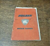 Vintage 1950s Holden Owners Manual FE/FJ w Intelligent Braking Insert