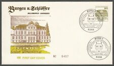 *1p SALE* Germany - West, 1982 Castles 80pf Illustrated FDC. ETABO Cachet