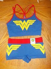 Women's DC Comics Wonder Woman size S (5) Bralette and Boyleg panty set NWT