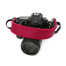 New High Elastic Belt Neoprene Shoulder Neck Strap for Canon Camera Red