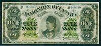 CANADA 1878 DOMINION OF CANADA 1 DOLLAR BILL VF+