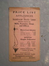 Antique Incandescent Electric Light Manipulator Company Brochure Early 1900's