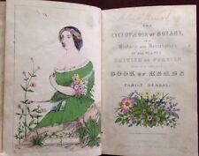 Cyclopedia Botany Color Plates Herbal Medicine Remedies Cures Flowers Circa 1850