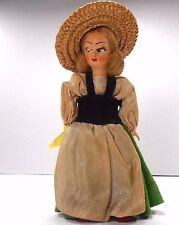 "Souvenir Vintage Doll Ethnic Costume Woman 6"" From Italy"