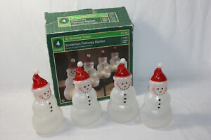 Holiday Time Christmas Lighted Snowman Path Markers