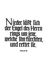 """PSALM  unbeschrieben """"H7994"""" Nieder läßt sich der Engel des Herrn"""