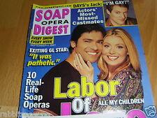 SOAP OPERA DIGEST 9/2001~Kelly Ripa~Jessica Morris~Jennifer Finnigan~Tony Gea