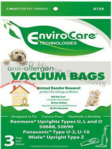 Kenmore Style U&O Upright HEPA Bags for 50688 50690 Vacuums