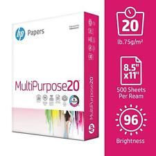 HP Multipurpose Ultra White Paper, Size 8.5 x 11 Inches, 96 Bright, 500 Sheets