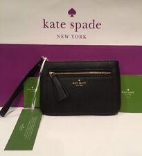 NWT KATE SPADE Tinie Chester Street Pebbled Black Leather Wristlet WLRU2657 $119