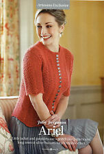 """~ Knitting Pattern For Lady's Lacy Cardigan & Matching Mittens ~ 32"""" ~ 46"""" Bust"""