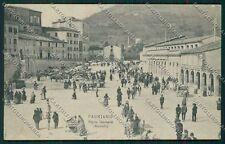 Ancona Fabriano Mercato PIEGHINA cartolina QQ1083