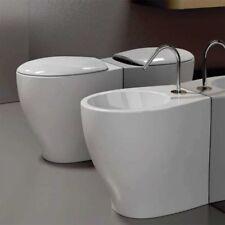 SANITARI WC + COPERCHIO  +  BIDET FILO PARETE DOMUS FALERII MASCALZONE