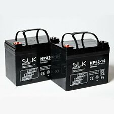 PAIR 12v SLK DEEP CYCLE AGM & GEL BATTERY FOR NEW & USED MOBILITY SCOOTER