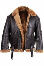 Men RAF Aviator Real Leather Jacket Coat Bomber B3 Sheep Skin Pilot Flying