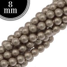 8mm Swarovski® Crystal Pearl Beads #5810 PLATINUM 250 Pc. Full Strand • FREE SH‼