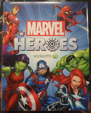 Marvel Heroes Discs Set (42) in Binder with 3 misprint discs unused Woolworths
