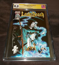 Lady Death IV: The Crucible #6 CGC 9.2 SS Signed Brian Pulido Chaos! Comics