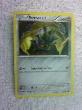 Carte pokémon ferroseed 77/99 commune noir et blanc carte etrangere