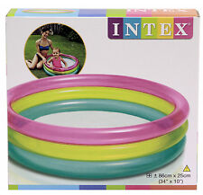 """Intex gonflable rainbow kids bébé gonflable piscine 34"""" x 10"""""""