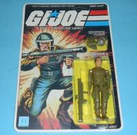 *RECARDED* 1982 GI Joe Zap v1 Straight Arm Figure Complete Sealed File Card Back