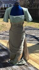 MICHAEL CASEY COUTURE By Martha Phillips Dusty Green Pure Silk Dress Size 6
