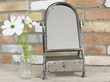 Industrial Cheval Mirror With Drawer Shabby Chic Table Makeup Jewellery Storage