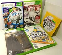 XBOX 360 BATMAN ARKHAM CITY, GAME PARTY IN MOTION, PICTIONARY, SHERLOCK HOLMES