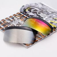 Big Visor Sunglasses Lens Very Oversize Shield Windproof Flat Hood Eyeglasses