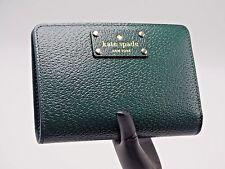 Kate Spade Tellie Wellesley Night Forest Leather Bifold ID Wallet WLRU2604 NWT