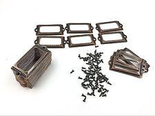 50 Pieces Card Holder Drawer Pull/label holders/Label Frames Card/Label Holder