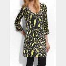Diane Von Furstenberg Vintage LAETITIA in SEVILLE Silk Jersey Tunic Dress Gray