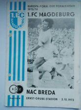 Orig.Programm EC 1.FC Magdeburg NAC Breda Nederland 3.10.73  DDR programma