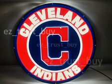 """New Cleveland Indians Led 3D Neon Sign 17"""" Bar Lamp Decor Poster"""