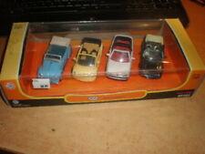 New Ray 1/43 #48485 Set of 4 cars VW 1200 '51 Beetle & Golf '88 '93 MIB