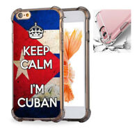 Keep Calm I'm Cuban Cuba Flag Case Cover For iPhone X 6 6S 7 8 8Plus #3471