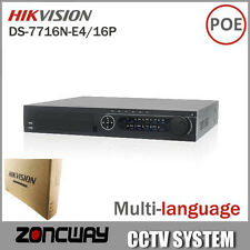Hikvision DS-7716N-E4/16P Network 16CH NVR with 16 POE Interface IP Camera NVR