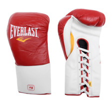 EVERLAST Fight Gloves Boxing Red White Fighting Punching Muay Thai MMA Sports