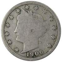 1906 Liberty Head V Nickel 5 Cent Piece AG About Good 5c US Coin Collectible