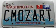 "Plaque USA WASHINGTON ""cmozart"" Evergreen STATE. Vanity Bouclier. 13097."