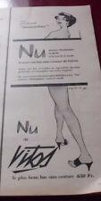 ANCIENNE PUBLICITE BAS VITOS NU 1957   ADvertising pub