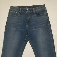 Lucky Brand 34x32 410 Athletic Slim Mens Med Wash Straight Stretch Denim Jeans