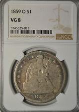 1859 O Seated dollar, VG8