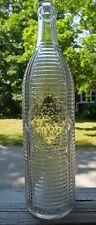 24 Oz. Orange Crush Soda Bottle - Plain Base - Embossed - Ribs - D.O.C. 334-1
