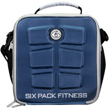 6 Pack Fitness The Cube Meal Management Bag - Navy/Gray