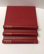 Stanley Gibbons SIMPLEX Standard Album En Cuir Rouge or en relief