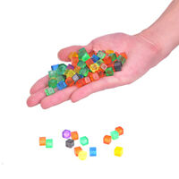 100Pcs 8mm Square Corner Colorful Crystal Dice Chess Piece Right Angle  Dh