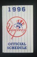 MLB New York Yankees Vintage 1996 Team Logo Baseball Pocket Official Schedule