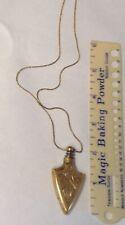 Antique brass perfume bottle pendant